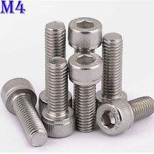 M4 x 0.7 304 Stainless Steel Allen Hex Socket Head Cap Screws Bolts A2-70 DIN912