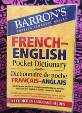 Barron's Foreign Language Guide French English Pocket Dictionary Bilingual