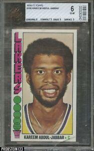 1976-77 Topps Basketball #100 Kareem Abdul-Jabbar Lakers HOF BVG 6