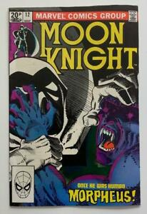 Moon Knight #12 KEY 1st App Morpheus (Marvel 1981) FN/VF condition Bronze Age