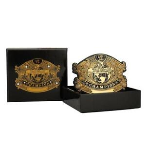 Official WWE Authentic  Undisputed Championship Belt Buckle Gold One Size