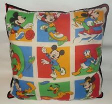 Vintage Disney Pillow! Mickey Mouse, Minnie Mouse, Goofy on Pillow!