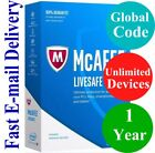 McAfee LiveSafe Unlimited Devices / 1 Year (Unique Global Key Code) 2021
