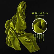 Frauen-dame Echte 100% Seide Feststoff Lang Schal Tücher Schal Scarfves Kopftuch
