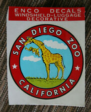Original Vintage Travel Decal San Diego Zoo