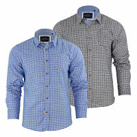 Mens Check Shirt Brave Soul Blaze Flannel Brushed Cotton Long Sleeve Casual Top