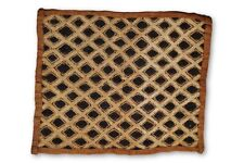 "Gorgeous Authentic Hand Woven Kuba Cloth 19.5"" x 23.5"" - DRC"