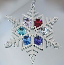 Snowflake Ornament Prism Suncatcher made with Swarovski octagon Prisms