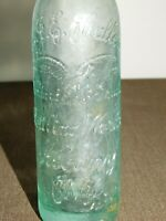 "VINTAGE 9"" HIGH B J E  MULLEN BOTTLING WORKS ALBANY NY 7 1/2 FL OZ  SODA BOTTLE"