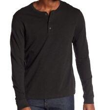 daf0734c Vince Mens Cactus Green Cotton Slub Long Sleeve Henley Shirt Large