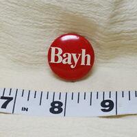 Birch Bayh Red Political Campaign Senator Vintage Button Pin