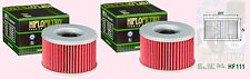 2x HF111 Oil Filter for Honda VT VTR CBX VT250 VTR250 CBX400 CBX550 CM450 CMX450