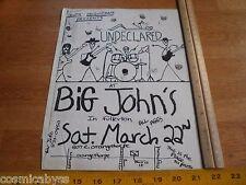 The Undeclared 1980s Original Punk Rock concert poster Fullerton Ca