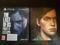 THE LAST OF US PART 2 PS4 GAME RARE STEELBOOK CASE & SLEEVE PAL UK NEW UNSEALED