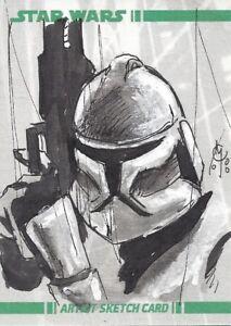 Star Wars Clone Wars Artist Sketch Card Clay McCormack