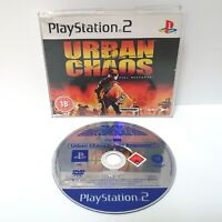 Urban Chaos Riot Response Promo Copy ~ Playstation 2 PS2 ~ Full Game *Very Good*