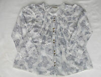 Girls' Blue & Cream Next Butterfly Smock Top Size 7 Years