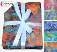 """Fat Quarter Bundle/ 100% Cotton Batik/ 5 Variations/ 18"""" x 22"""""""