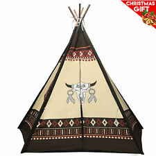 "Best Selling Indoor TeePee Tent – 70"" Tall Kids Classic Indian Design"