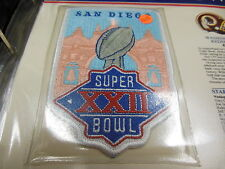 '88 Super Bowl Xxii Replica Patch With Game Nfl Football Notes Redskins Broncos