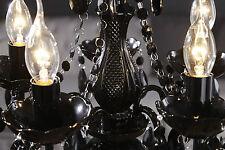 Lampadari da soffitto nero in metallo da 4-6 luci