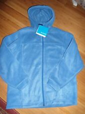 NEW Boys Columbia Steens Hoodie Blue Size 14/16 Fleece Zip Front NWT