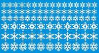 Snowflakes Christmas window / wall decoration sticker