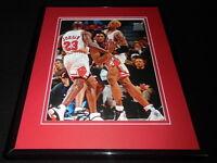 Kobe Bryant vs Michael Jordan 1997 Framed 11x14 Photo Display Bulls Lakers