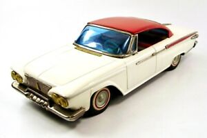 "1961 Plymouth 2 Door Custom Hardtop 12"" Japanese Tin Car by Ichiko NR"