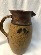TOKHEIM STONEWARE DAWSON MINNESOTA SCANDINAVIAN INSPIRED PITCHER BROWN SPECKLED