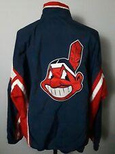 Vintage Starter Cleveland Indians Nylon Jacket Mens Size XL