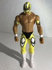 WWE Mattel Rey Mysterio Yellow Wrestling Figure Aew Collectible