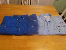2 Columbia Shirts Size XL Blue