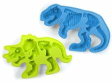 Fred & Friends Fossiliced Dinosaur Ice Cube Mold T-Rex & Triceratops 2 Pack Set