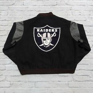 Vintage 80s Los Angeles Raiders Wool Varsity Jacket Chalk Line Oakland Las Vegas