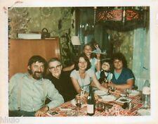 POL628 Polaroid Photo Vintage Original repas famille anniversaire
