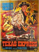 Plakat Kino Western Texas Express Randolph Scott - 120 X 160 CM