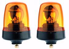 Pair of Britax 391 single bolt amber flashing beacons roof warning lights 12/24V
