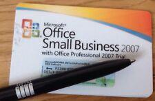 Microsoft Office 2007 Small Business Carte de Clé de produit