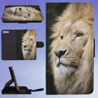 ANIMAL AFRICA ZOO LION FLIP WALLET CASE FOR APPLE IPHONE PHONES