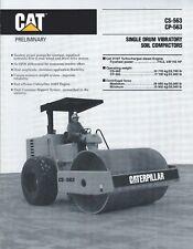 Equipment Brochure - Caterpillar - CS CP-563 - Soil Compactor - c1989 (E4480)