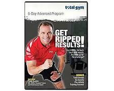 TOTAL GYM - GET RIPPED RESULTS: 5 DAY ADVANCED PROGRAM (DVD) R-ALL NEW FREE POST
