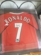 christiano ronaldo signed Manchester United Shirt Framed