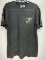 Affliction Short Sleeve T-Shirt Mens Gray Size XL