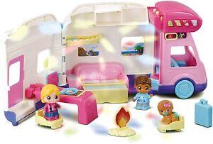 VTech Toot-Toot Friends Moonlight Campervan Girls Kids Toy Playset 2 Dolls Baby