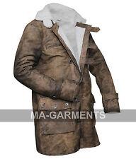 Dark Knight Rises Bane Crocodile Distressed Leather Jacket Long Coat