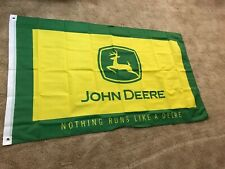 John Deere 3x5' Flag Banner Tractor Farm Free Shipping!