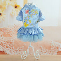 Pet Princess Dress Small Dog Dress Embroidery Vest Skirt Clothes Costume