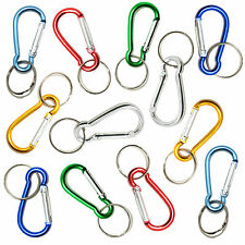 12pk of Multicolour Metal Key Carabiner Clip. Key Organising Keyring Fob Ring