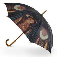 Cascada Collection Art Print Walking Umbrella with Wood Hook Handle - Royal Cats